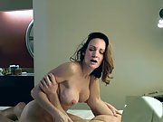 Mature cuckold hotwife does anal for the first time in front of husband